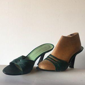 Sigerson Morrison all leather peep toe high heel